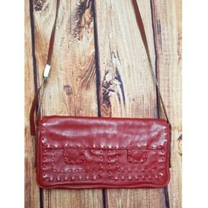 JOHNNY FARAH RED LEATHER BAG